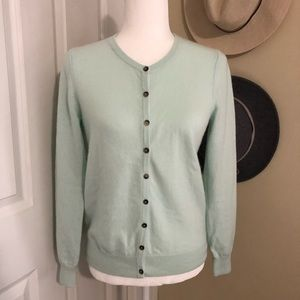 Boden Cashmere Cardigan in Mint